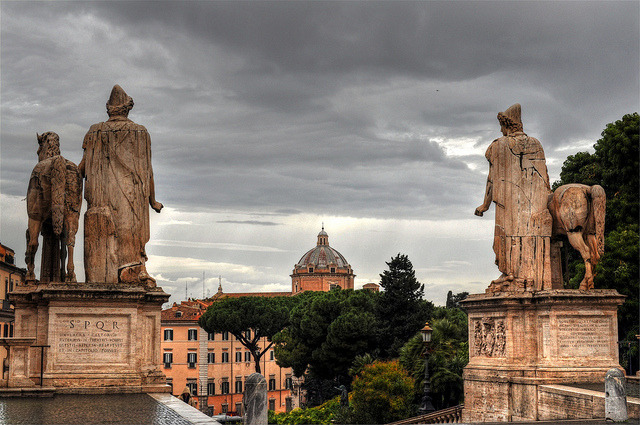 by Atilla2008 on Flickr.Sentinels of Rome in Piazza Campodiglio, Italy.
