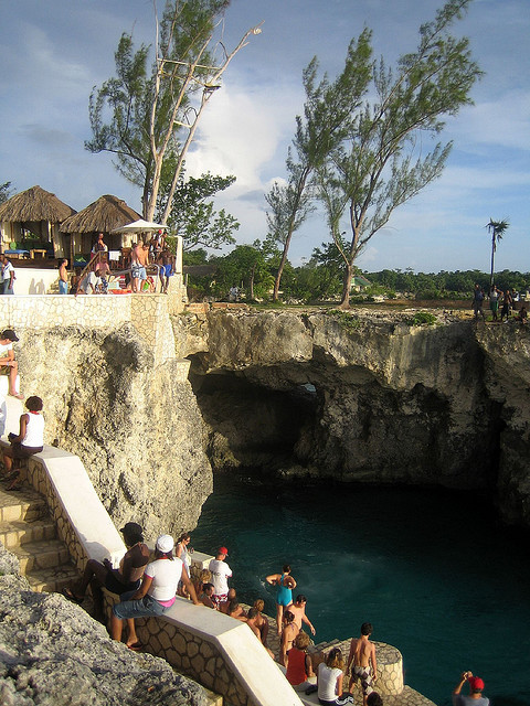 Cliff divers at Rick's Cafe in Negril, Jamaica