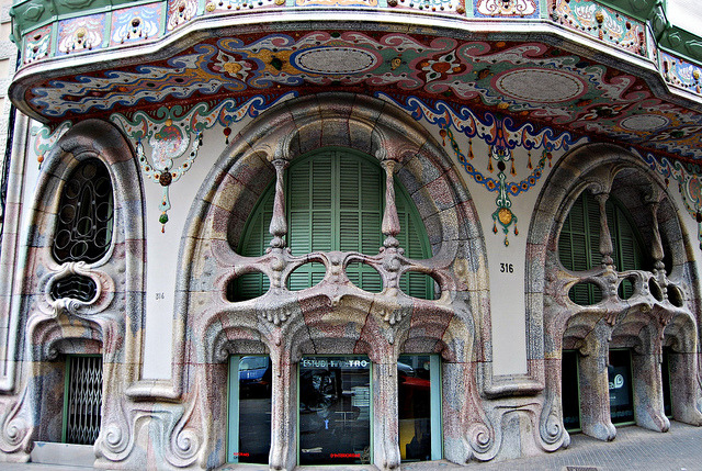 Another architectural masterpiece on Barcelona's streets, La Casa Comalat, Spain